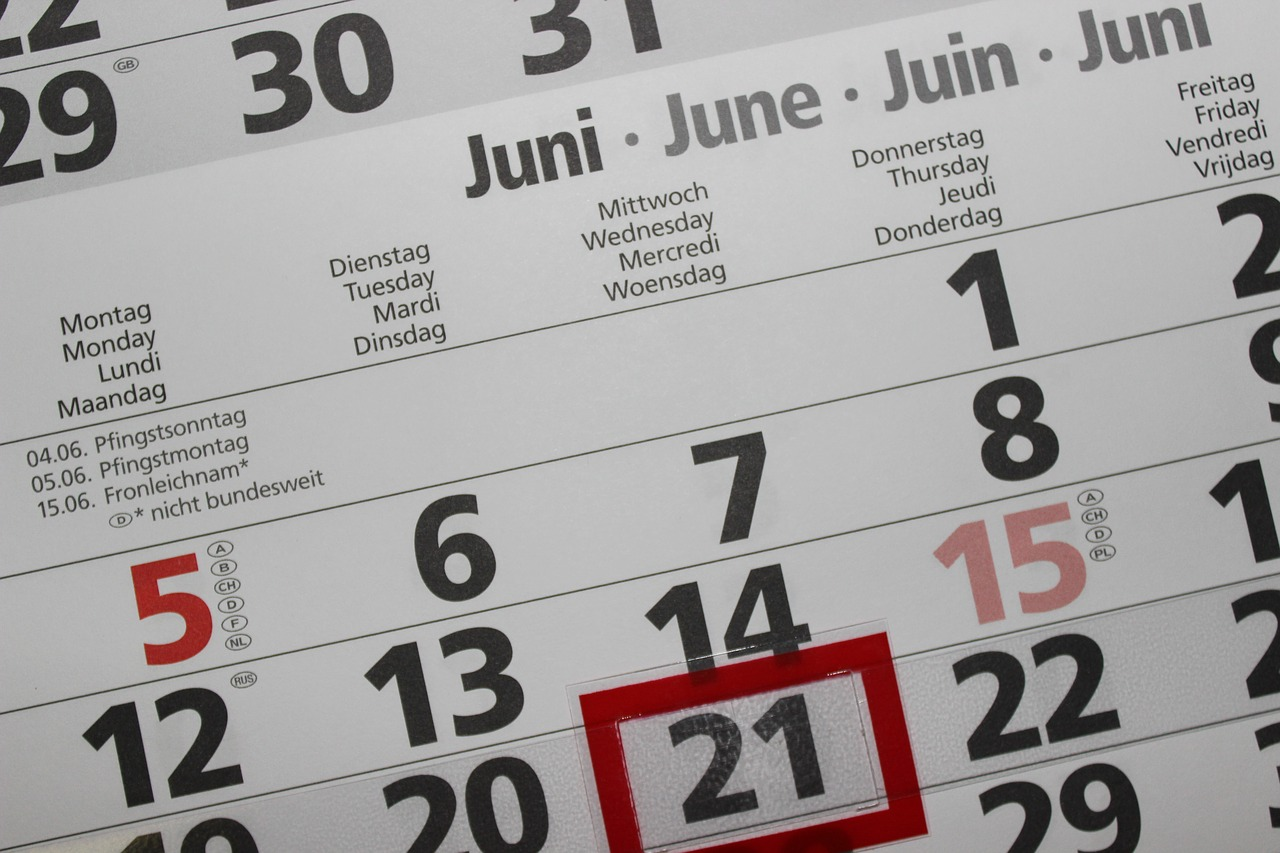 calendar, date